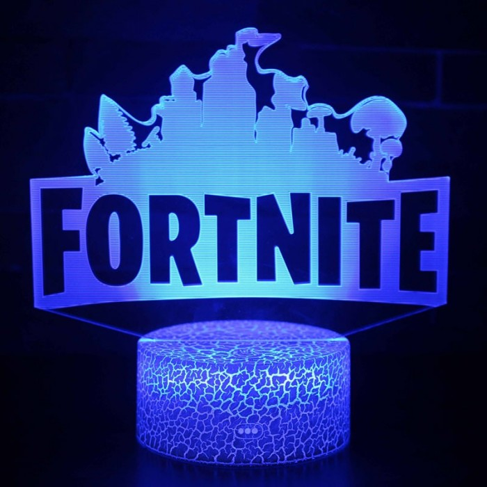 Lampe 3D logo Fortnite